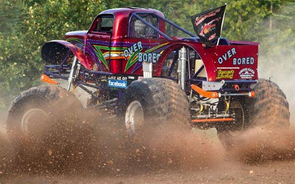 Over Bored - Charlotte Motor Speedway - Back To School Monster Truck Bash
