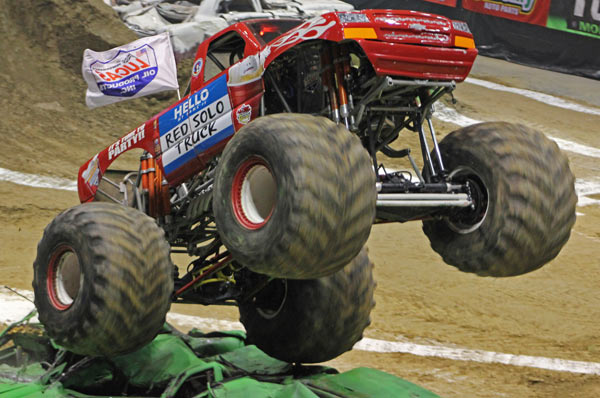 Red Solo Truck - Charlotte Motor Speedway - Back To School Monster Truck Bash
