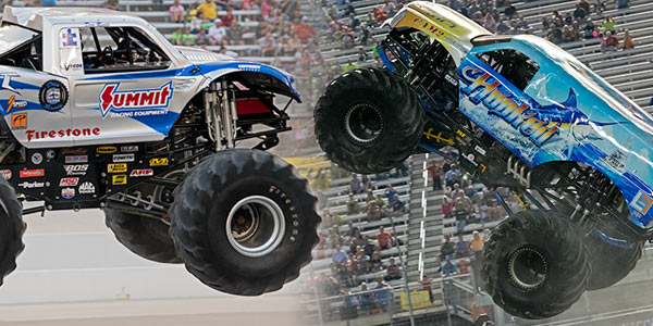 bigfoot hooked take top honors in bristol monster truck madness. Black Bedroom Furniture Sets. Home Design Ideas