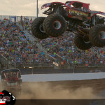 Gun Slinger versus River Rat - 2015 Back To School Monster Truck Bash
